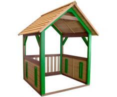Jane Maison Enfant en Bois FSC | Maison de Jeux pour l'extérieur / Jardin en marron & vert |