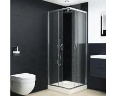 Cabine de douche avec bac Verre de sécurité 80x80x185 cm