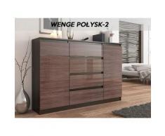 PORTO 2W | Commode contemporaine meuble rangement chambre/salon | 140x40x98 cm | Dressing 4