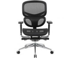 Chaise de bureau pivotante inSync avec dossier respirant, noir