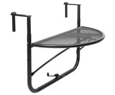 Table pliante semi-circulaire pour balcon 60x30cm noir - Primematik