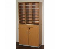 OFFICE AKKTIV Bloc multicases, modèle large - h x l x p 1864 x 913 x 440 mm, 21 casiers format A4