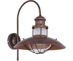 Applique murale style rustique industriel lampe spot marron salon éclairage rouille Globo 15355W