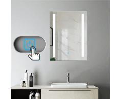 Miroir salle de bain 70x50cm anti-buée Mural Lumière Illumination avec éclairage LED
