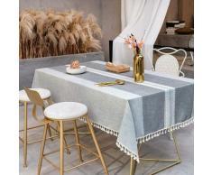 ILoveManoMano Nappe anti-poussière épissure, nappe rectangulaire, nappe de décoration table de