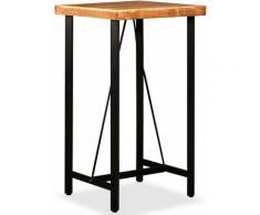 True Deal Table de bar Bois massif d'acacia 60x60x107 cm