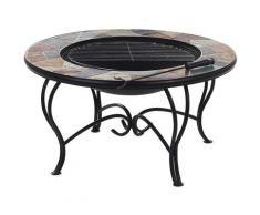 Table basse braséro avec plateau céramique EREBUS