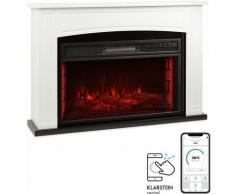 Klarstein Lucerne Smart cheminée électrique 1000/2000 W LED 18-27 °C minuterie hebdomadaire blanche