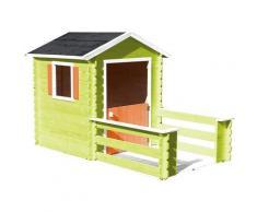 Soulet - Cabane en bois avec terrasse pour enfant - Praline