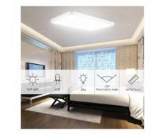 20 PCS Plafonnier LED carré ultra-mince de 48W pour LiVing de cuisine de salle de bains