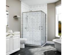 100x120x185cm Cabine de douche Entrée d'angle Cabine de douche Portes coulissantes carrées