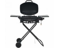 Barbecue au gaz portatif avec zone de cuisson Noir