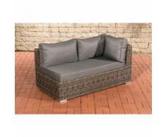 Canapé d'angle de 2 places Tessera rond/gris métallique Gris métal