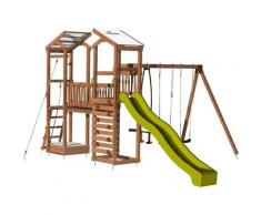 Aire de jeux pour enfant 2 tours avec portique et mur d'escalade - FUNNY Big Climbing sans option