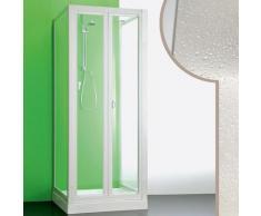 Idralite - Cabine douche 3 côtés 90x85x90 CM en acrylique mod. Saturno avec ouverture pliante