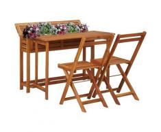 Asupermall - Table de balcon avec 2 chaises de bistro Bois d'acacia massif