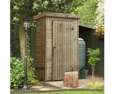Armoire de rangement de jardin en bois traité 198x130x69cm, Santiago