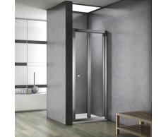 Porte de douche 100x187cm porte de douche pliante