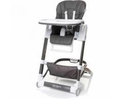 chaise haute très tendance HICON cuir écologique   max 15 kg   gris