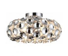 Etc-shop - Plafonnier salon lampe boule chromée à l'intérieur, décor acrylique, LED 3x 5,5 watts 3x