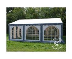 Tente de réception Original 4x6m PVC, Gris/Blanc