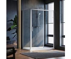Cabine de douche 100x100x185 cm - verre tremp