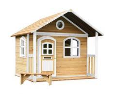 Milan Maison Enfant en Bois FSC | Maison de Jeux pour l'extérieur / Jardin en marron & blanc |