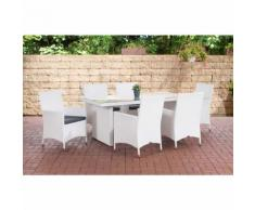 Salon de jardin Avignon blanc Gris métal