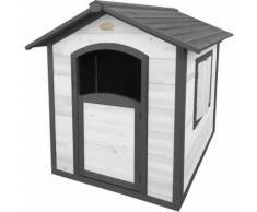 Cabane de jardin enfant en bois FSC Britt Noir et gris