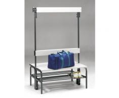 Banc pour vestiaire en acier, pour environnements humides - h x p 1600 x 695 mm - L 1015 mm, avec