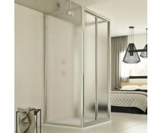 Cabine de douche en forme U pliante verre opaque h 198 mod. Urban Trio P 70x70x70 cm