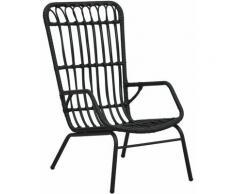 Vidaxl - Chaise de jardin Résine tressée Noir