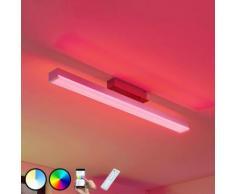 LED à intensité variable 'Keyan' en métal pour salon & salle à manger
