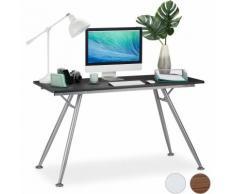 Bureau, design moderne pour chambre d'ado et bureau, gros pupitre,HlP: 77 x 135 x 60 cm, noir
