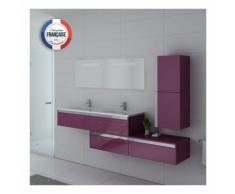 Meuble de salle de bain BELLISSIMO Aubergine