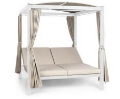 Eremitage Double XL balancelle 2 Pers cadre en acier auvent rideaux