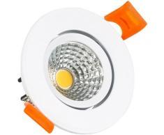 Ledkia - Spot Downlight LED COB Orientable Rond 5W (UGR19) Blanc Coupe Ø 55mm CRI92 Expert Color