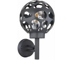 Applique murale boule d'extérieur boule lumineuse 20 cm Applique d'extérieur ronde en acier