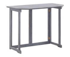 True Deal - Table pliable de balcon 90x50x74 cm Bois d'acacia massif