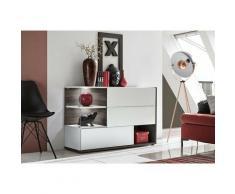 Price Factory - Buffet, bahut, enfilade KLIS trois portes et trois niches. Coloris blanc. Style
