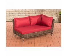 Canapé d'angle Moss rond/marron métallique Rouge rubin