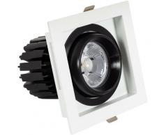 Spot Downlight LED COB Carré Orientable 360º CRI90 12W Coupe 100x100mm Expert Color Blanc Froid