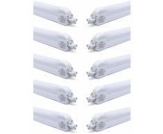10×Anten T5 120CM Tube LED 16W Tube Plafond LED IP20 avec Réglette Complète Blanc Froid 6000K
