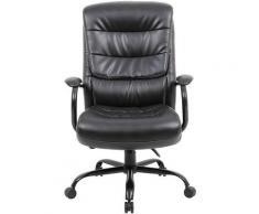 Chaise pivotante de bureau Habillage cuir Citadel | Poids max. utilisateur 170 kg | Noir | Certeo