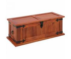 Hommoo Coffre de rangement 60x25x22 cm Bois d'acacia solide