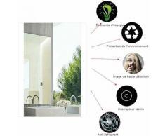 Sifree - Miroir LED Salle de Bain Miroir 60*80cm Anti-brouillard avec Eclairage