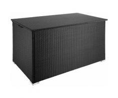 Helloshop26 - Coffre de jardin mobilier 145 cm noir - Noir