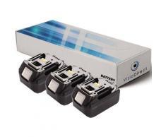 Visiodirect - Lot de 3 batteries pour Makita DCM500Z machine à café 3000mAh 18V