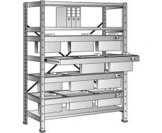 Rayonnage emboîtable pour dossiers suspendus - hauteur 1920 mm, châssis à 3 rangées - rayonnage de