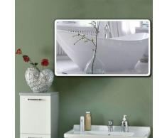 Oobest - Miroir salle de bain avec éclairage miroir LCD pour salle de bain 1200*700 mm